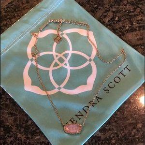 Kendra Scott Rose Quartz Elisa Necklace